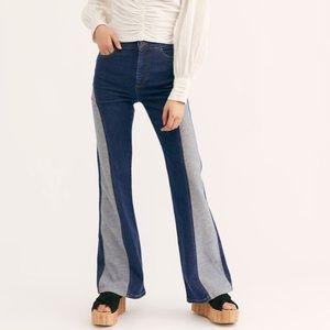 Free People Flip it and Reverse It Flare Jean